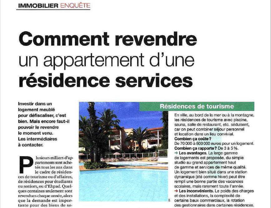 Comment revendre un appartement d 39 une r sidence services le revenu - Le credit foncier prete t il facilement ...